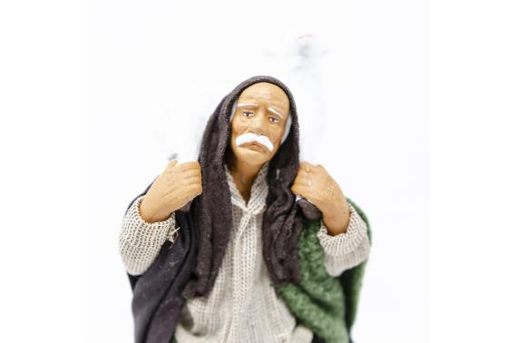 Uomo con Pecora in Spalla - Fisse Vestite - 16 cm