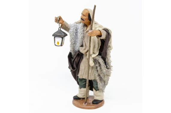 Uomo con Lanterna - Fisse Vestite - 16 cm