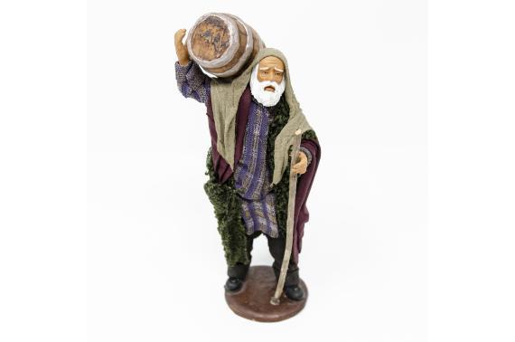 Uomo con Botte in Spalla - Fisse Vestite - 16 cm