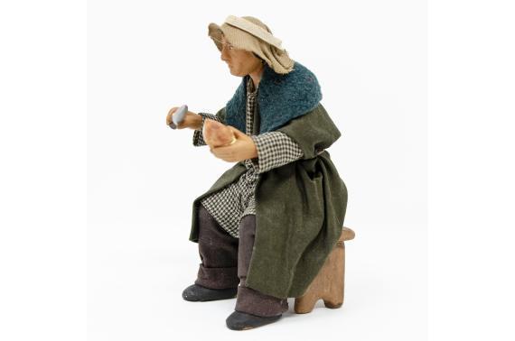 Uomo con Coltello per Tavolata - Fisse Vestite - 16 cm