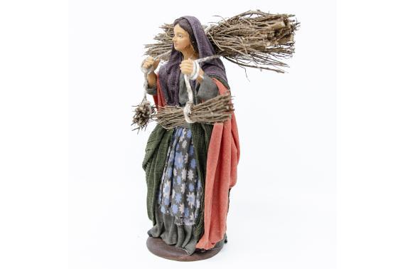 Donna con Legna - Fisse Vestite - 16 cm