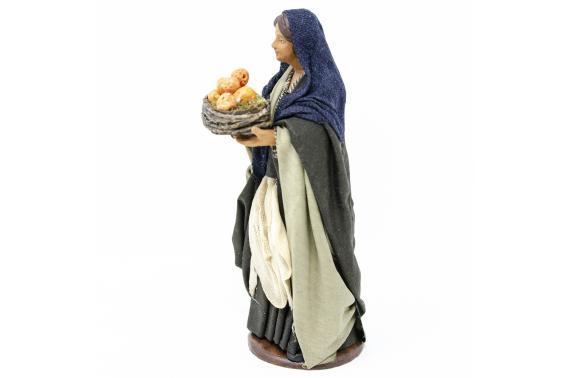 Donna con Cesto d'Arance - Fisse Vestite - 16 cm