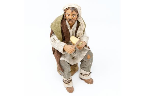 Uomo con Pane per Tavolata - Fisse Vestite - 20 cm