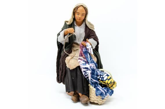 Donna che Cuce - Fisse Vestite - 20 cm