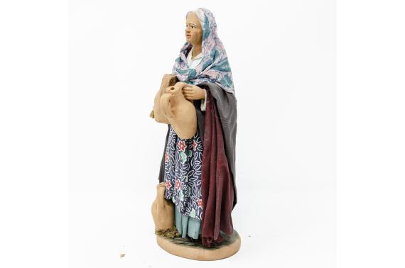 Donna con Anfora sulle Spalle - Fisse Vestite - 20 cm