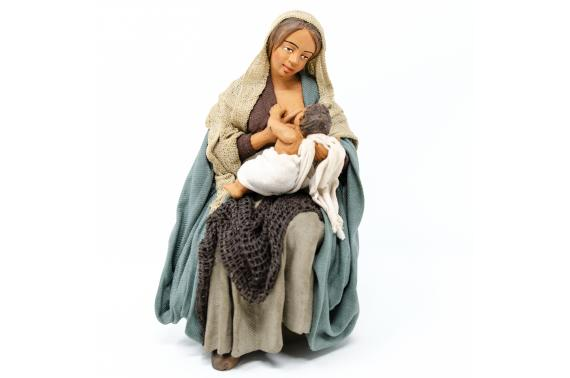 Donna che Allatta - Fisse Vestite - 20 cm