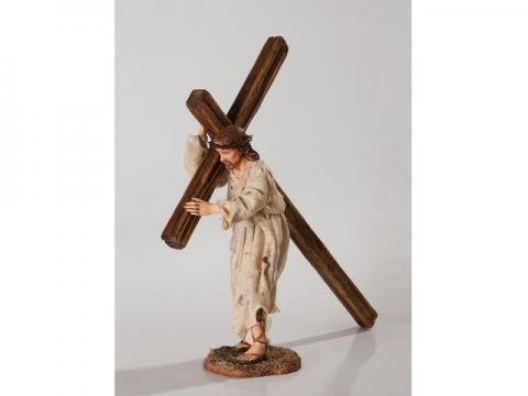Gesù con la Croce - Artistici Vestiti - 30 cm