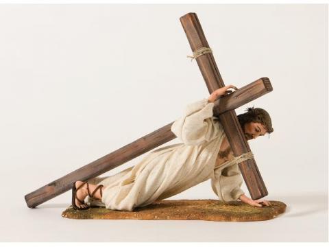 Gesù sotto la Croce - Artistici Vestiti - 30 cm
