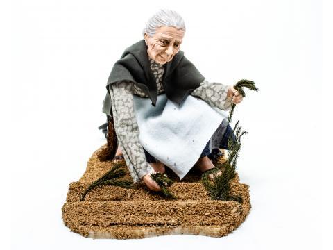 Donna nell'orto - Statue Presepe, Artigianato in Movimento