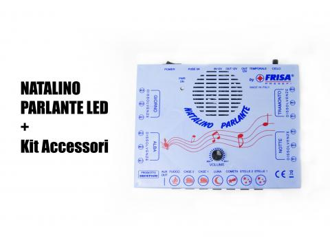 Natalino Parlante LED + KIT Strisce - Centraline + Kit LED