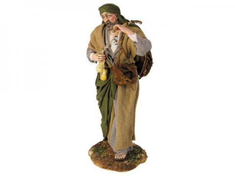 Viandante con formaggi - Artistici Vestiti Fissi - 30 cm