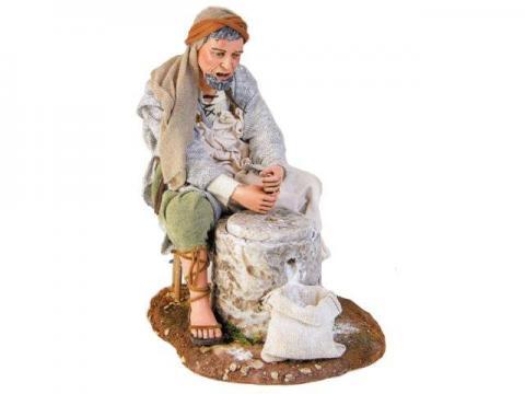 Uomo con macina - Artistici Vestiti Fissi - 30 cm