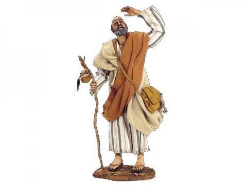 Pastore scruta l'orizzonte - Artistici Vestiti Fissi - 30 cm