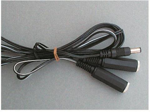 Prolunga Doppia, uscite in serie 2,1 mm - Accessori 2,1 mm