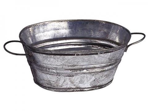 Tinozza Ovale - Oggetti Metallo