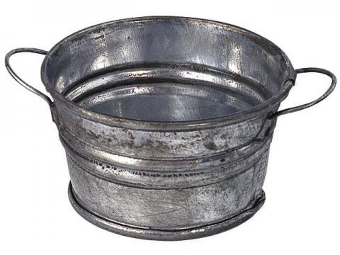 Tinozza Rotonda - Oggetti Metallo
