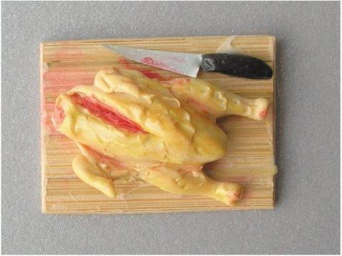 Tagliere con Pollo - Accessori Cibo