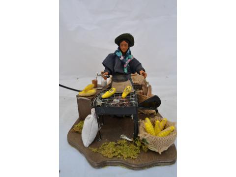 Donna cuoce pannocchie - Movimento - 12 cm