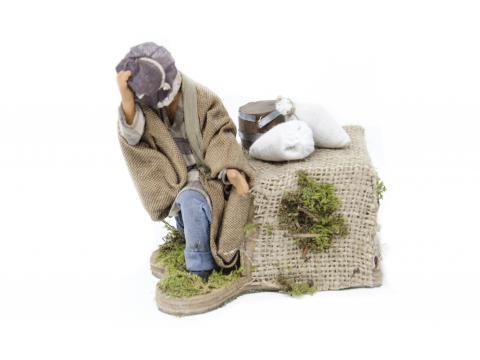 Uomo in Ginocchio con Cappello - Movimento - 12 cm