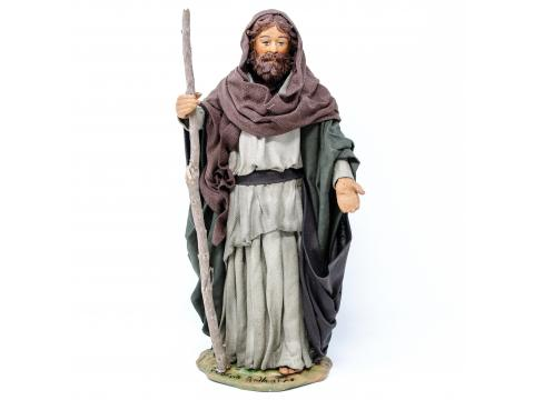 San Giuseppe in Piedi - Fisse Vestite - 24 cm