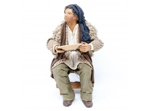 Uomo con Piatto per Tavolata - Fisse Vestite - 24 cm