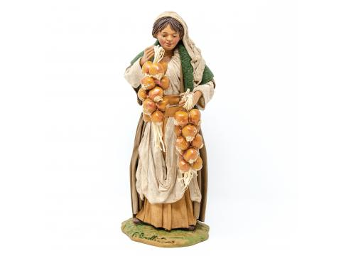 Donna con Ceppi di Cipolle - Fisse Vestite - 24 cm