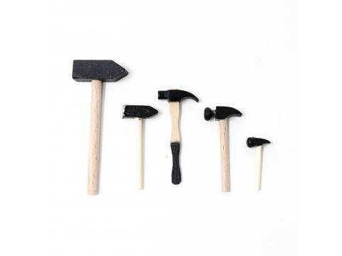 Set 5 martelli economici - Oggettistica Mestieri