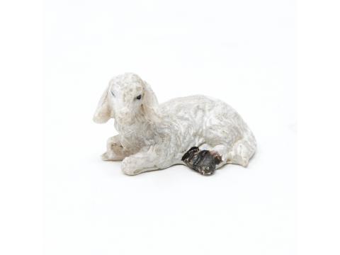 Pecora resina decorata - Animali Presepe in Resina