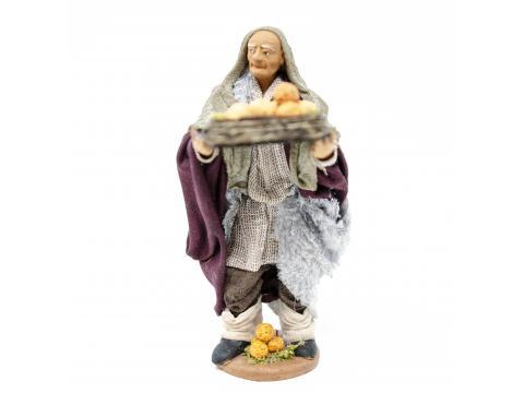 Uomo con Cesto Arance - Fisse Vestite - 12 cm