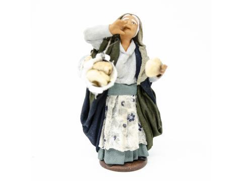 Donna con Pane - Fisse Vestite - 12 cm