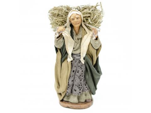 Donna con Fascina in Spalla - Fisse Vestite - 12 cm