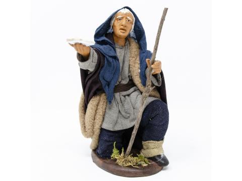 Mendicante in Ginocchio - Fisse Vestite - 16 cm