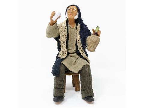 Uomo con Fiasco per Tavolata - Fisse Vestite - 16 cm