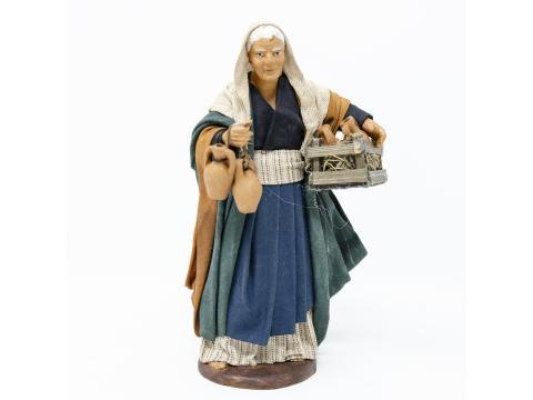 Donna con Cassetta di Anfore - Fisse Vestite - 16 cm