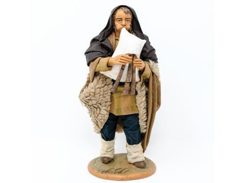 Zampognaro - Fisse Vestite - 20 cm
