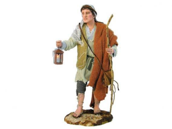 Pastore con lanterna artistici vestiti fissi 30 cm for Arredamento pastore